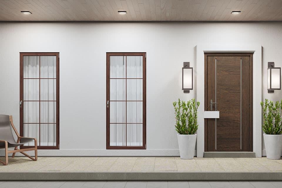 おしゃれな窓と玄関