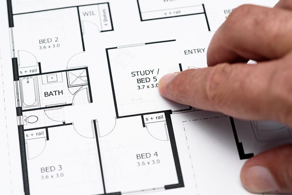 注文住宅の間取り図イメージ