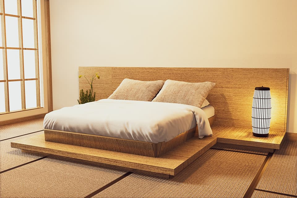 和室にベッドのイメージ